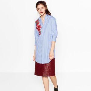 Zara Shirt Dress with Patch